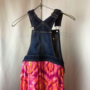 Jordache Girls denim/Floral jumper